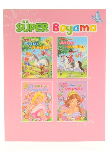 Süper Boyama-Prensesler-1-Çiçek Yayıncılık